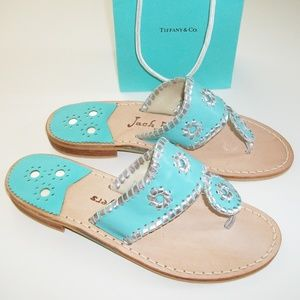 Jack Rogers Sandals Tiffany Blue Size 6